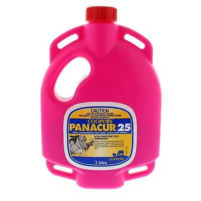 Coopers Panacur 25 Oral Anthelmintic for Sheep Cattle Goats Fenbendazole 1L