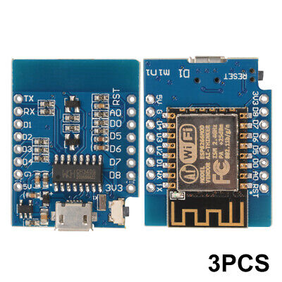 3pcs ESP8266 NodeMcu Lua Wemos D1 Mini WiFi Develop Kit Development Board TE684