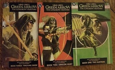 Green Arrow the Longbow Hunters (1987) #1 2 3 - VF/NM - complete set of 3, Grell
