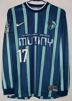5f436531fde MLS Tampa Bay Mutiny Nike 1999 Valderrama L/S Player Issue Home Soccer  Jersey