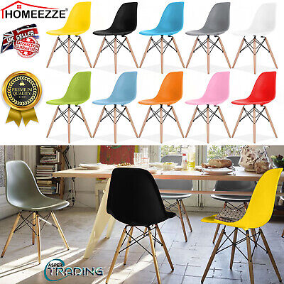 Eiffel Dining Chair Solid Wooden Legs Office Kitchen Lounge Retro Vintage Chairs