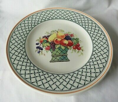 Villeroy and Boch Basket Dinner Plates x 2 - 10 1/2 Inches