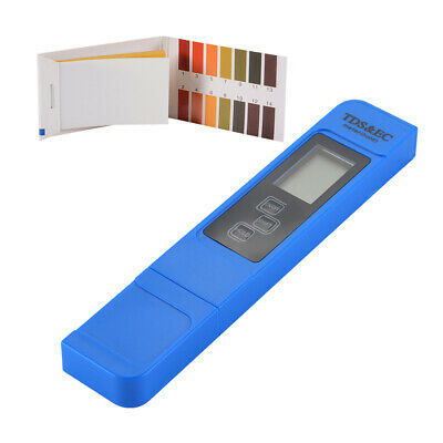Pocket Size 3-in-1 EC TDS Temperature Tester Pen with 0-14 PH Test Paper TH933