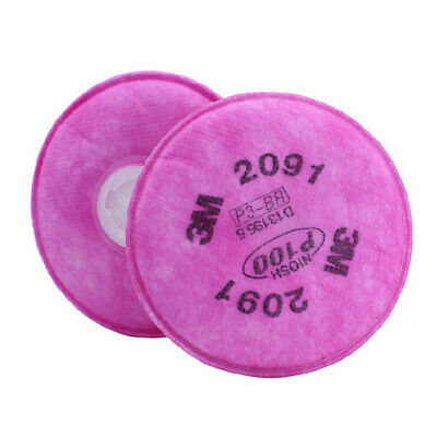 100pcs=50 packs 3M 2091 P100 Particulate Filter for 3M 6200/6800/7502 Respirato