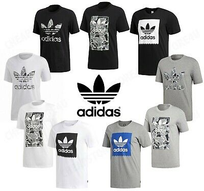 Adidas Camo Trefoil Originals Mens Essentials Crew Neck Short Sleeve T-Shirt