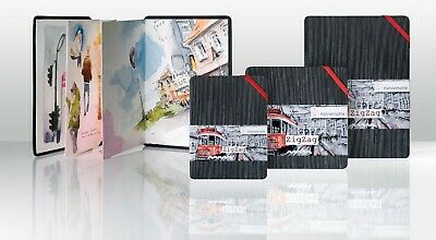 Hahnemuhle Zig Zag Fold Watercolour Sketch Book - Urban Sketching - A6 A5 Square