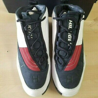 3ac79818a KITH X TOMMY Hilfiger OG Basketball Sneakers -White Navy US 10 ...