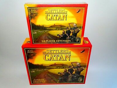 Settlers of Catan Board Game, + Brand New rare Sealed Expansion pack Collectable