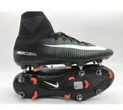 37d74428372b Nike Mercurial Superfly V SG Pro Mens Black Soccer Cleats 831956-014 Size 7