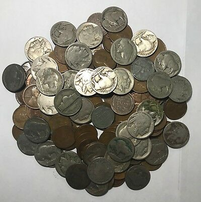 Estate Lot ***137 Old U.s. Coins Plus Type 1 Buff*** L@@k At Pictures!!!!! #3484
