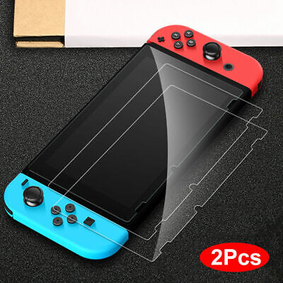 2 PCS Premium 9H Tempered Glass Screen Protector Guard For Nintendo Switch