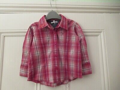 18-24m: Lovely red checked shirt/blouse: Designer TOMMY HILFIGER: Good condition