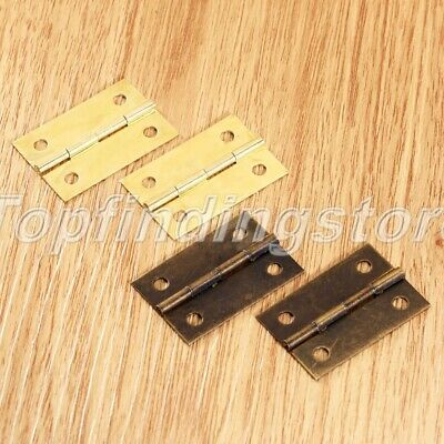 UK STOCK Mini Hinges Jewellery Box Dolls House Decorative Cupboard Hinge 4/20Pcs