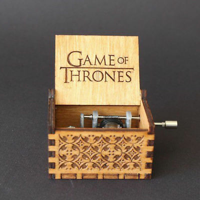 Game of Thrones Music Box Engraved Wooden Music Box Crafts Game of Thrones Gift