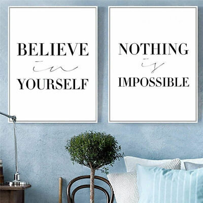 Motivational Quote Canvas Poster Minimalist Wall Art Prints Nordic Style Decor
