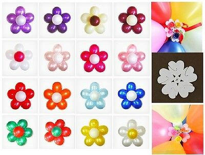 1-100 pcs Latex Balloon Arch Stand Connectors Clip Flower Shape Sealed Birthday