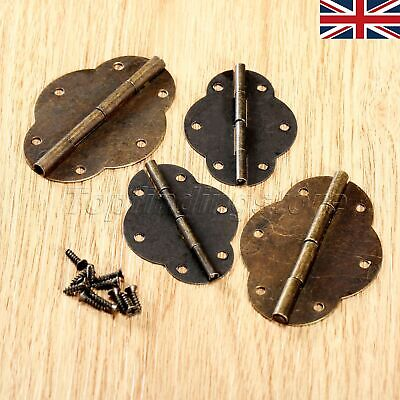 UK STOCK Vintage Brass Butt Hinges Cabinet Cupboard Dolls House Hinges 2/10pcs