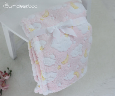 Super Soft Pink Cloud Baby Blanket | FREE Delivery