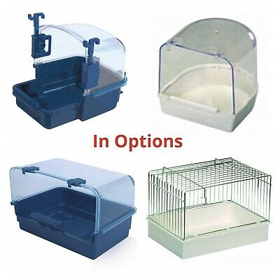 Bird Bath for Finch, Canary, Budgie, Parrot IN OPTIONS External - Internal cage