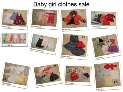Baby girls clothing 0-24 months, multi listing, make your own bundle