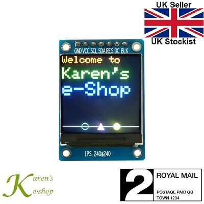 """1.3"""" ST7789 240x240 SPI Colour IPS TFT Display Module for Arduino"""