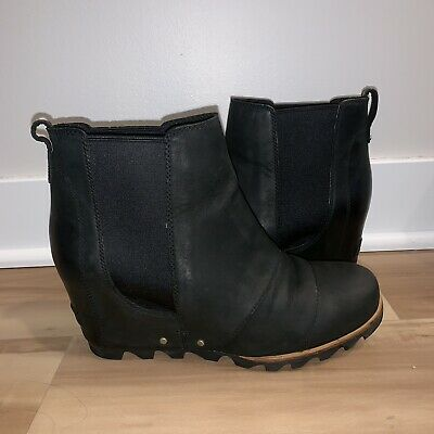 1727dce4181 SOREL LEA WEDGE Black 8 Joan Arctic Ankle Boot Great Condition ...