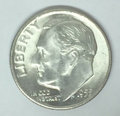 1955 S Roosevelt Silver Dime -Gem BU-FB-Shipping to/from USA