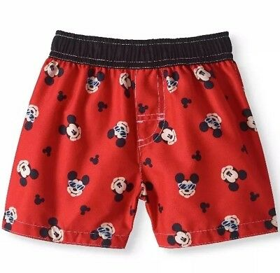 d61a58281c Toddler Boys Disney Licensed Mickey Mouse Swim Trunks Shorts Size 24 Months