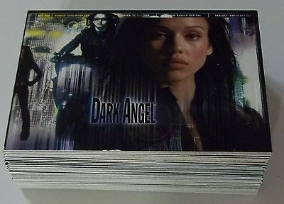 Complete 2002 Topps DARK ANGEL Trading 72 Card Base Set JESSICA ALBA