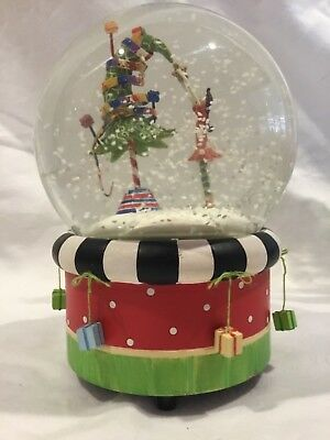 Musical Christmas Snow Globe Girl and Christmas Tree