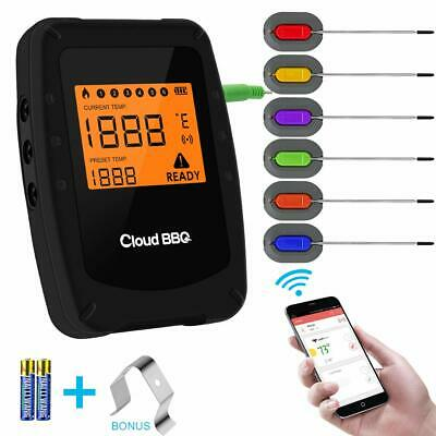 Wireless Meat Grill Thermometer Bluetooth Adapter for iOS&Android, Digital Wirel