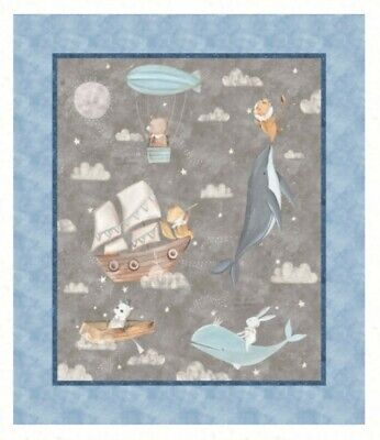 Adventures In The Sky Quilt Panel * Digital * New * Free Post * Gorgeous *