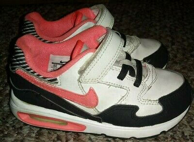 0a1f94dfc4 Toddler Size 10 Girl's NIKE Air Max ST Athletic Shoes Black White Pink
