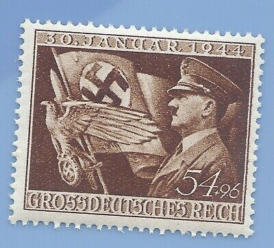 Germany Nazi Third Reich 1944 Hitler Swastika Eagle 54+96 stamp MNH WW2 ERA #1