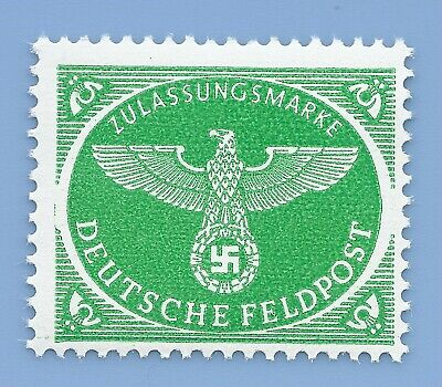 Nazi Germany Third Reich Swastika Eagle Feldpost Stamp MNH WW2 ERA stamp green