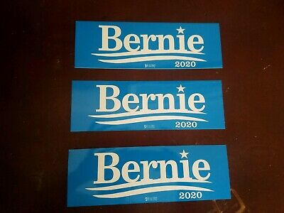 Bernie Sanders 2020 for President Bumper Stickers Decals 3 Pack Made in the USA