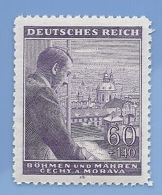 Nazi Germany Third Reich Nazi B&M Hitler 60+140 stamp MNH WW2 ERA