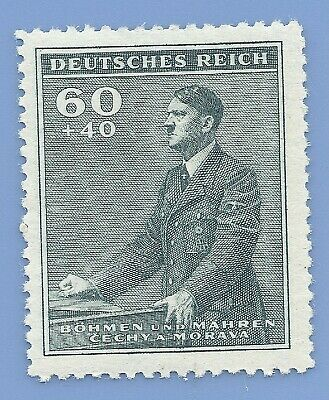Nazi Germany Third Reich  B&M Hitler 60+140 stamp MNH WW2 ERA stamp