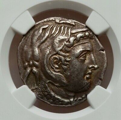 Alexander the Great - PTOLEMY I Soter Silver Tetradrachm Greek Coin NGC XF