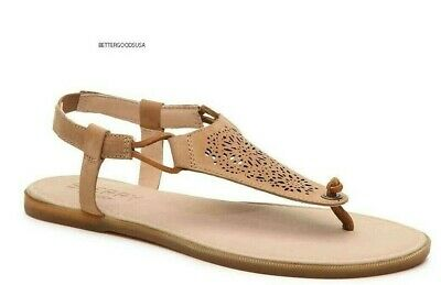 dba1ad9e814 SPERRY TOP-SIDER women s CALLA JADE THONG SANDALS T Strap Leather Brown 10 M