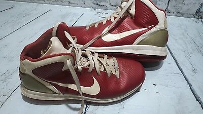 low cost 58137 e5171 Mens Nike Air max 360 High Top Leather Basketball Shoes Size 11.5 Red White