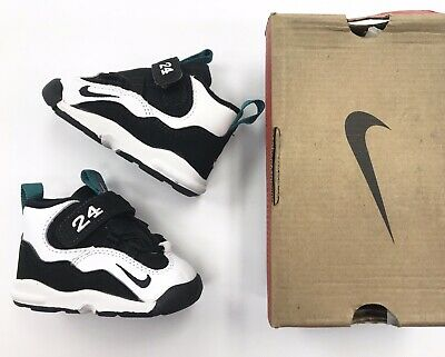 b9691875fdda Vintage DS 1995 Nike Baby Griffey max sz 3.5 infant toddler shoes white  emerald