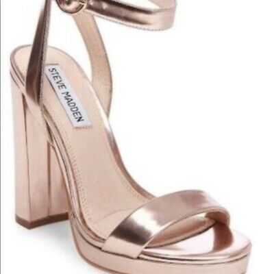 1d2ad27641c STEVE MADDEN WOMENS Rose Gold Sandals Size 8 (191439) -  21.56 ...