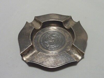 Chinese 900std silver ashtray with Chinese coin centre by Wai Kee Hong Kong