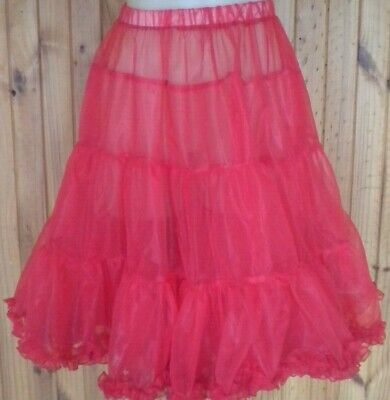 Rock N Roll ,Square Dance Petticoat Red