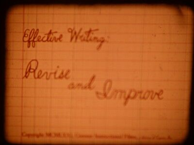 Effective Writing: Revise And Improve 1972 16mm short film