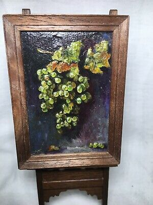 DOLLHOUSE MINIATURE OIL painting by Jeff Wilkerson GRAPES