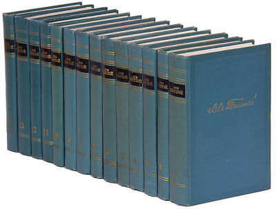 L Tolstoy Selected Works in 14 volumes 1952 Russian RARE Лев Толстой