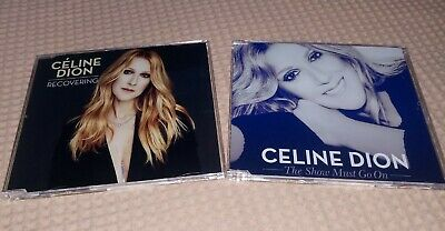KIT 2 CDs Singles Celine Dion - Recovering & The Show Must Go On