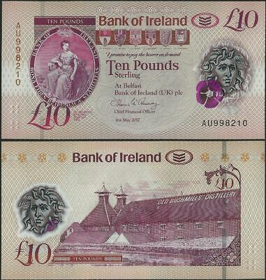 Northern Ireland,10 Pounds,Bank of Ireland,UNC,2019,Polymer,B137 @ EBS
